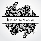 Vector lace card Royalty Free Stock Image