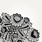Vector lace card Stock Image