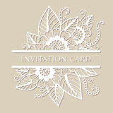 Vector lace card Royalty Free Stock Photos