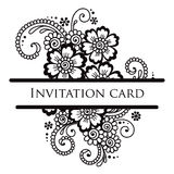Vector lace card. Stock Photo