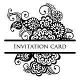 Vector lace card. Royalty Free Stock Photo