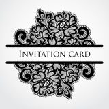 Vector lace card Royalty Free Stock Photography