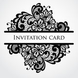 Vector lace card Stock Photos