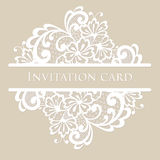 Vector lace card. Vintage white ornament Royalty Free Stock Photos