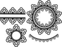 Vector lace elements Stock Photos
