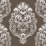 Vector lace floral element. In Eastern Imperial style. Ornamental lace pattern for wedding invitations and greeting cards, wallpapers, backgrounds, fabrics Royalty Free Stock Image