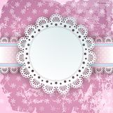 Vector Lace Frame Royalty Free Stock Image