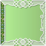 Vector lace frame, festive pattern, white pattern,  template greetings Stock Images