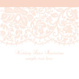 Vector Lace Invitation card with lace floral ornament Stock Images