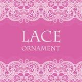 Vector lace ornament background. Vector retro lace ornament on color background. Eps10 Royalty Free Stock Image