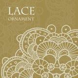 Vector lace ornament background. Vector retro lace ornament on color background. Eps10 Stock Photography