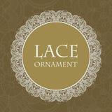 Vector lace ornament background. Vector retro lace ornament on color background. Eps10 Stock Photo