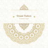 Vector lace pattern in Eastern style on scroll work background. Stock Photo