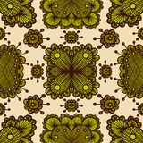 Vector lace pattern. Eps10. Vector lace color retro seamless pattern. Eps10 Stock Photo