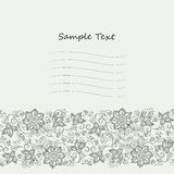 Vector Lace pattern for invitation or greeting card Royalty Free Stock Image