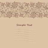 Vector Lace pattern for invitation or greeting card. Vector seamless floral background with indian ornament. Lace pattern for invitation or greeting card Stock Photos