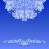 Vector lace pattern with shadow Stock Photos