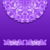 Vector lace pattern with shadow Royalty Free Stock Photo