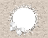 Vector lace picture frame Royalty Free Stock Photography