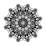 Vector lace round pattern. Mandala with ornamental flowers. Decorative element for design and fashion Royalty Free Stock Image