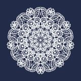 Vector lace round pattern. Mandala with ornamental flowers. Decorative element for design and fashion Stock Photography