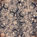 Vector lace seamless pattern Royalty Free Stock Photos