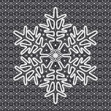 Vector lace snowflake Royalty Free Stock Image