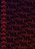 Vector laced floral wallpaper Stock Images