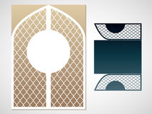 Vector laced gate. Laser Cutting template. Stock Photo