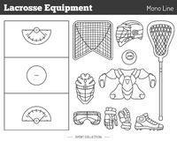 Vector lacrosse game design elements Royalty Free Stock Image