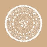 Vector Lacy Circle Pattern stock de ilustración