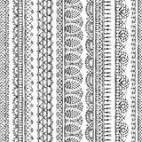 Vector lacy croched seamless pattern. Stock Photography