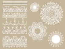 Vector lacy scrapbook design elements Stock Photos