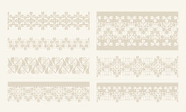 Vector lacy vintage design elements, lace seamless Royalty Free Stock Photography