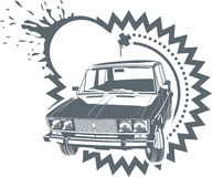 Vector Lada car royalty free stock photos