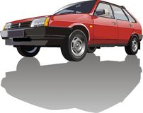 Vector Lada car Royalty Free Stock Images
