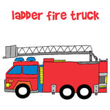 Vector of ladder fire truck Stock Photo