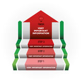 Vector ladder for infographics. Increase of statistics vector illustration