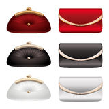 Vector Ladies evening bags on a white background.  Stock Photography