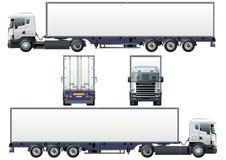 Vector ladings semi-vrachtwagen Stock Afbeeldingen