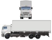Vector ladingsvrachtwagen royalty-vrije illustratie