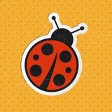Vector ladybug sticker Royalty Free Stock Photos