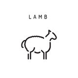 Vector lamb lamb outline icon Royalty Free Stock Photography