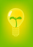 Vector  lamp with natural leaf Stock Images
