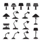Vector lamps set. Illustration Stock Image