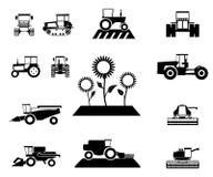 Vector landbouw geplaatste voertuigen Royalty-vrije Stock Afbeeldingen