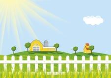 Vector Landbouwbedrijf royalty-vrije illustratie