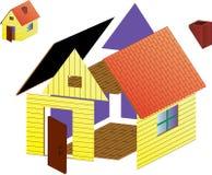 Vector landelijk huis Stock Illustratie