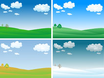 Vector landscape Stock Images