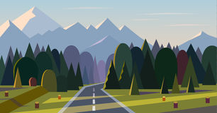 Vector landscape background. Royalty Free Stock Photography